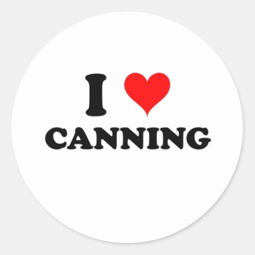 I Love Canning Sticker