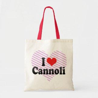 I Love Cannoli Canvas Bags