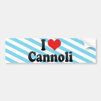 I Love Cannoli Car Bumper Sticker