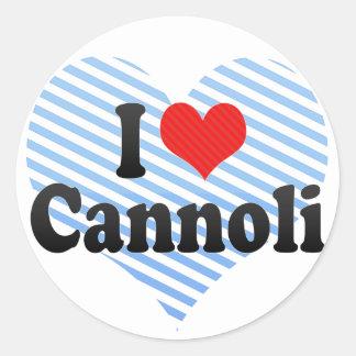 I Love Cannoli Classic Round Sticker