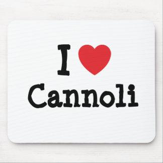 I love Cannoli heart T-Shirt Mouse Pad