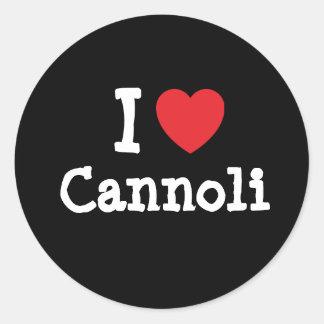 I love Cannoli heart T-Shirt Round Sticker