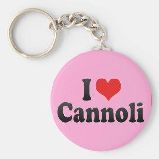 I Love Cannoli Keychains