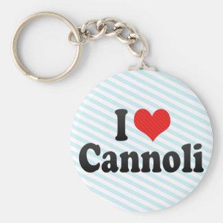 I Love Cannoli Key Chain