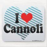 I Love Cannoli Mouse Pads