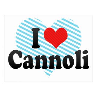 I Love Cannoli Postcard