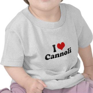 I Love Cannoli Tee Shirt
