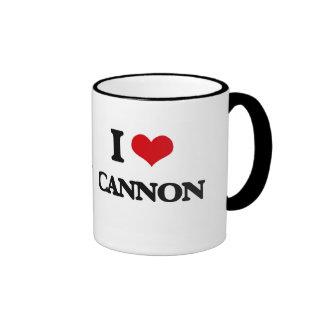 I Love Cannon Ringer Coffee Mug