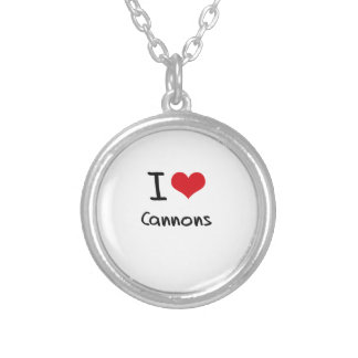 I love Cannons Personalized Necklace