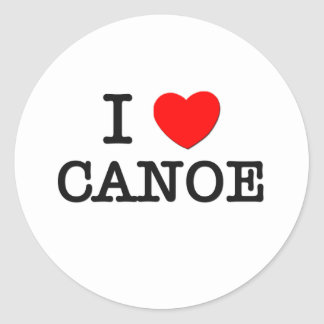 I Love CANOE Massachusetts Classic Round Sticker