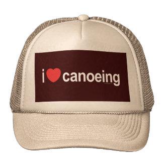 I Love Canoeing Trucker Hat