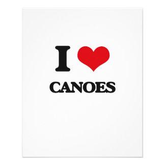 I love Canoes Flyer Design