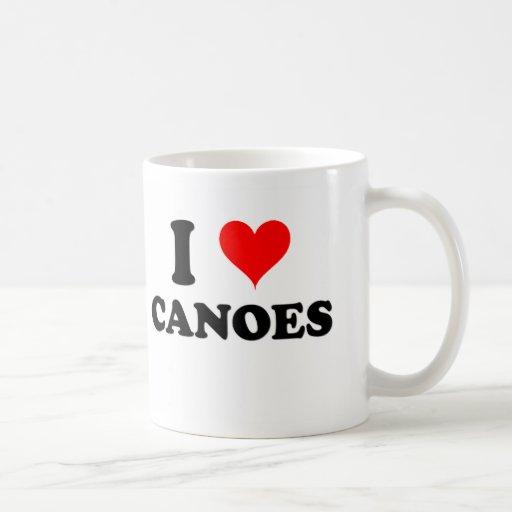 I Love Canoes Mug