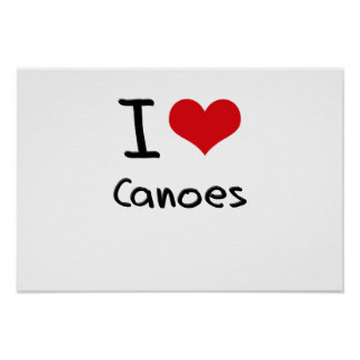 I love Canoes Poster