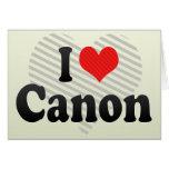 I Love Canon Cards
