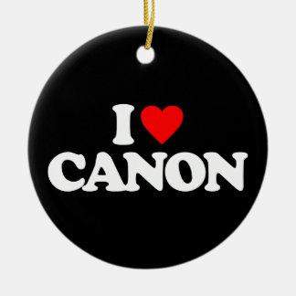 I LOVE CANON CERAMIC ORNAMENT