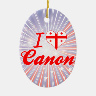 I Love Canon, Georgia Christmas Tree Ornaments