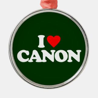 I LOVE CANON METAL ORNAMENT