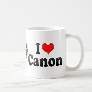 I Love Canon Coffee Mugs