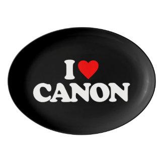 I LOVE CANON PORCELAIN SERVING PLATTER
