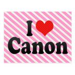 I Love Canon Postcards
