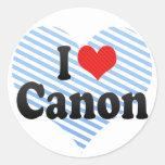 I Love Canon Stickers