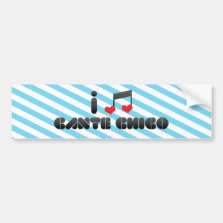 I Love Cante Chico Car Bumper Sticker