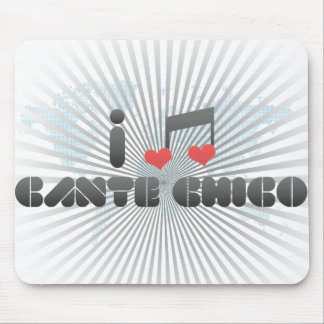 I Love Cante Chico Mouse Pad