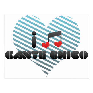 I Love Cante Chico Postcard