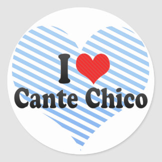 I Love Cante Chico Classic Round Sticker