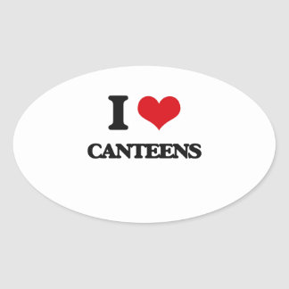 I love Canteens Oval Stickers