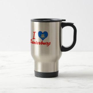 I Love Canterbury, Connecticut 15 Oz Stainless Steel Travel Mug