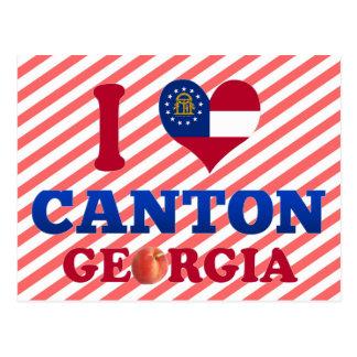I Love Canton, Georgia Postcard