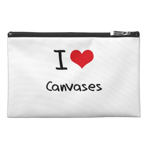 I love Canvases Travel Accessories Bag