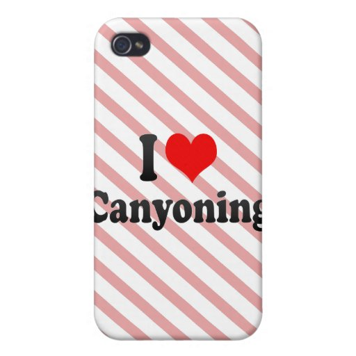 I love Canyoning iPhone 4/4S Covers