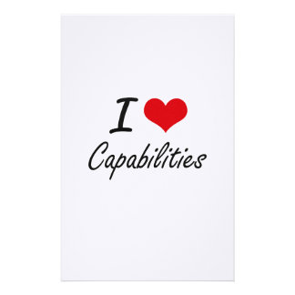 I love Capabilities Artistic Design Stationery