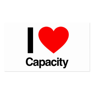 i love capacity Double-Sided standard business cards (Pack of 100)