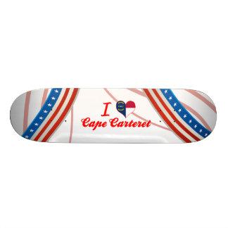 I Love Cape Carteret, North Carolina Skate Board Decks