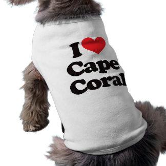 I Love Cape Coral Pet T-shirt