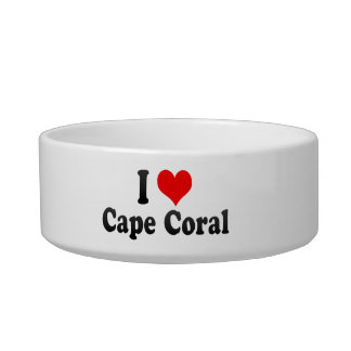 I Love Cape Coral, United States Cat Food Bowl