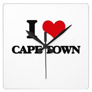 I love Cape Town Square Wall Clocks