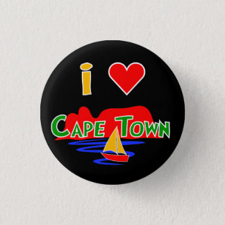 I Love Cape Town Table Mountain Button Badge