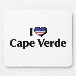 I Love Cape Verde Flag Mouse Pad
