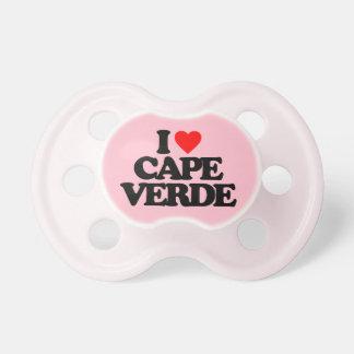 I LOVE CAPE VERDE PACIFIERS