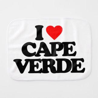 I LOVE CAPE VERDE BURP CLOTH