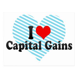 I Love Capital Gains Postcard