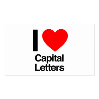 i love capital letters business cards