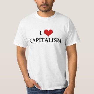 I love Capitalism Conservative Political T-Shirt