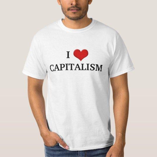 fdbf099f9 I love Capitalism Conservative Political T-Shirt | Zazzle.com