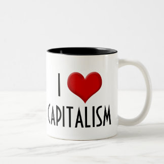 I Love Capitalism Conservative Right-Wing Two-Tone Coffee Mug